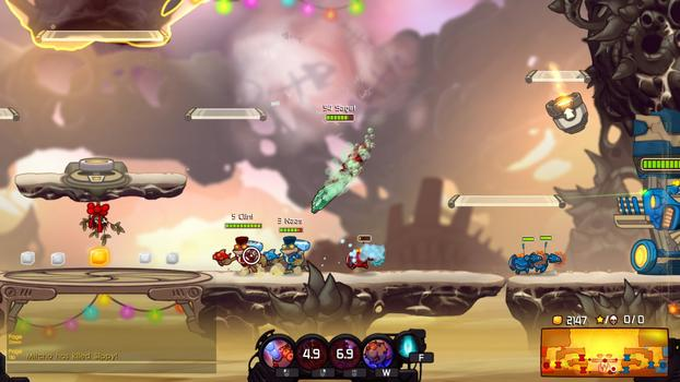 Awesomenauts - Cap'n Vinnie and Seadog Spike DLC on PC screenshot #1