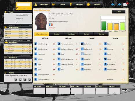 Basketball Pro Management 2014 on PC screenshot #3