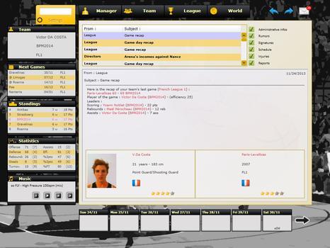 Basketball Pro Management 2014 on PC screenshot #1