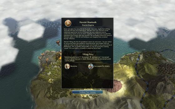 Sid Meier's Civilization® V: Civilization and Scenario Pack: Denmark - The Vikings (MAC) on PC screenshot #1