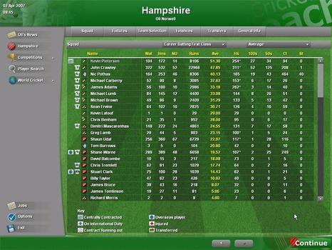 Cricket Coach 2007 on PC screenshot #1