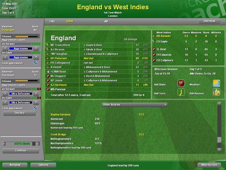 Cricket Coach 2007 on PC screenshot #3