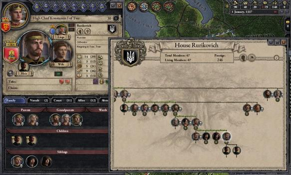 Crusader Kings II: Dynasty Shields on PC screenshot #1
