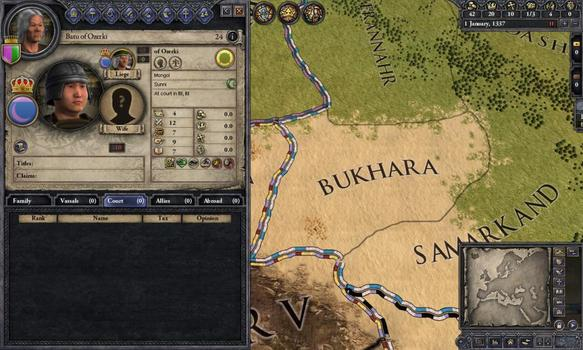 Crusader Kings II: Mongol Faces on PC screenshot #1