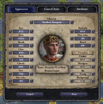 Crusader Kings II: Ruler Designer on PC screenshot #1