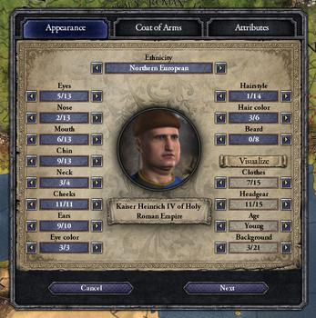 Crusader Kings II: Ruler Designer on PC screenshot #2