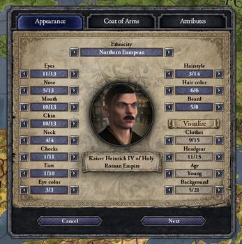 Crusader Kings II: Ruler Designer on PC screenshot #3