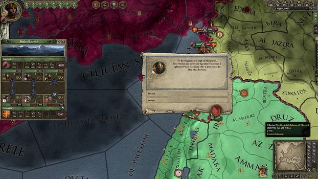 Crusader Kings II: Sword of Islam on PC screenshot #2