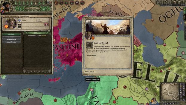 Crusader Kings II: Sword of Islam on PC screenshot #1