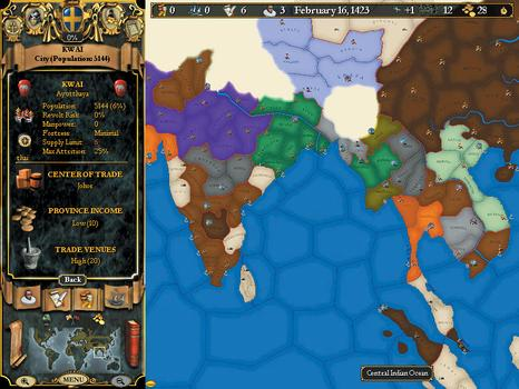 Europa Universalis II on PC screenshot #3