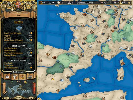 Europa Universalis II on PC screenshot #4