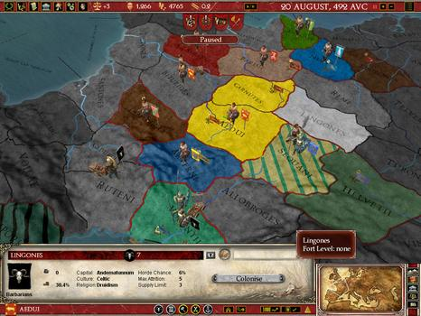 Europa Universalis: Rome Gold on PC screenshot #2