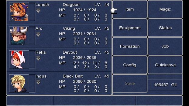 FINAL FANTASY III on PC screenshot #12