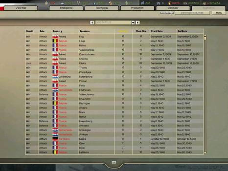 Hearts of Iron II on PC screenshot #1