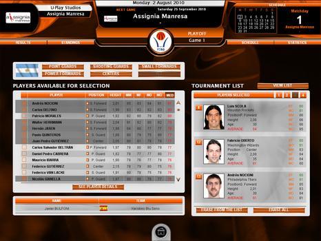 International Basketball Manager: Season 2010-2011 on PC screenshot #2