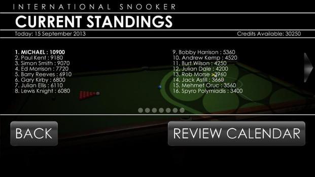 International Snooker on PC screenshot #3