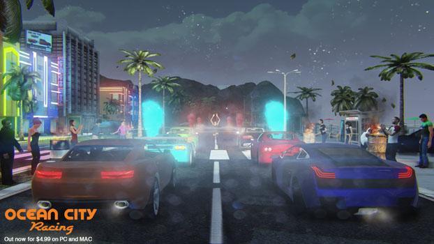 Ocean City Racing on PC screenshot #1