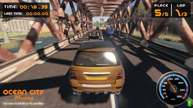 Ocean City Racing on PC screenshot #2