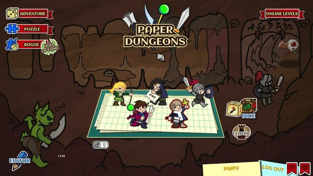 Paper Dungeons on PC screenshot #1