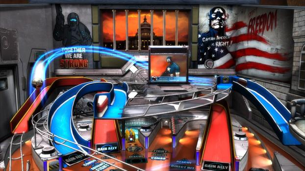 Pinball FX2 - Civil War Table DLC on PC screenshot #1