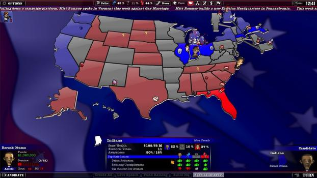 The Political Machine 2012 on PC screenshot #3