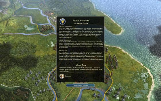 Sid Meier's Civilization® V: Civilization and Scenario Pack: Denmark - The Vikings on PC screenshot #1