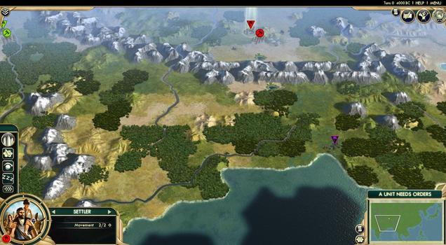 Sid Meier's Civilization® V: Scrambled Continents Map Pack (MAC) on PC screenshot #1