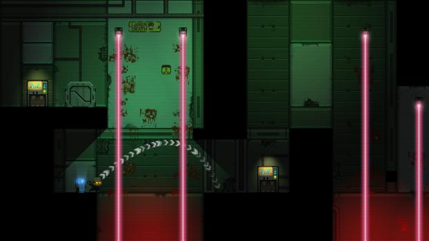Stealth Bastard Deluxe - The Teleporter Chambers on PC screenshot #2