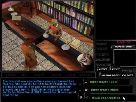 Tex Murphy: Under a Killing Moon on PC screenshot #5