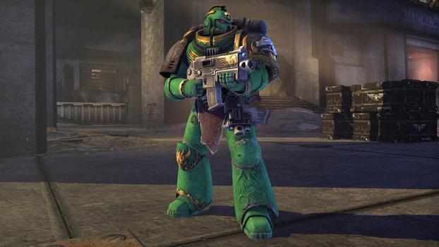 Warhammer 40000: Space Marine - Salamanders Veteran Armour Set on PC screenshot #1
