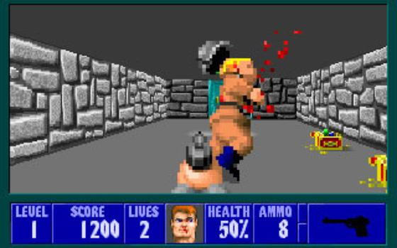 Wolfenstein 3D on PC screenshot #4