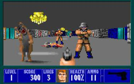 Wolfenstein 3D on PC screenshot #1