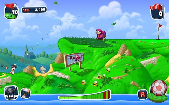 Worms Crazy Golf on PC screenshot #1